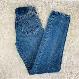 Vintage Hi Waisted Blue Mom Jeans  sz 26 FIORUCCI